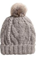 H&M Cable-knit Hat - Lyst