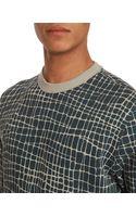 YMC Giraffe Print Blue Sweatshirt - Lyst