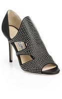 Jimmy Choo Tarine Studded Cutout Sandals - Lyst