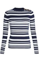 Joseph Stripe Knit Jumper - Lyst