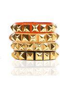 Linea Pelle Grayson Skinny Stud Bracelet - Lyst