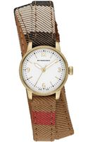 Burberry Womens Swiss House Check Double Wrap Strap Watch 30mm - Lyst