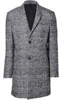 The Kooples Wool Blend Check Print Coat - Lyst