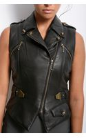 Alexander Wang Leather Vest with Belt - Lyst