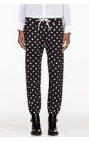 3.1 Phillip Lim Black Polka Dot Lounge Pants - Lyst