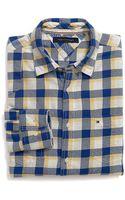 Tommy Hilfiger Custom Fit Plaid Shirt - Lyst