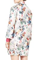 Valentino Watercolor Floral Brocade Coat Whiteredblue - Lyst