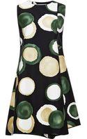 Marni Printed Cotton-blend Mini Dress - Lyst