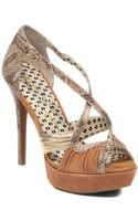 Jessica Simpson Leather Peeptoe Pumps - Lyst