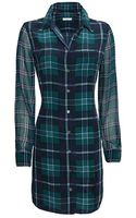 Equipment Exclusive Brett Plaid Pattern Dress - Lyst