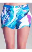 Bebe Double Layer Shaped Shorts - Lyst