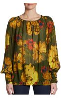 Rachel Zoe Sabina Floral Silk Blouse - Lyst
