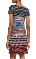 Missoni Shortsleeve Knit Mini Dress - Lyst