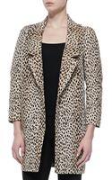 Diane Von Furstenberg Britta Animalprint Jacket - Lyst