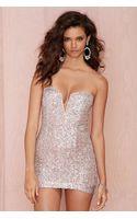 Nasty Gal Helix Bodycon Dress - Pink Sequin - Lyst