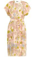 Bottega Veneta Kimono-print Silk Dress - Lyst