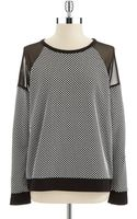 Two By Vince Camuto Polka Dot Sweater - Lyst