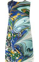Stella McCartney Barton Printed Silksatin Dress - Lyst