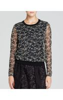 Tory Burch Honour Floral Print Sweater - Lyst