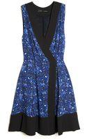Proenza Schouler Micro Print Sleeveless Wrap Dress - Lyst