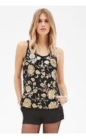 Love 21 Floral-sequined Lace Top - Lyst