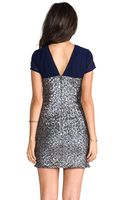 Heartloom Mallory Sequin Dress in Navy - Lyst