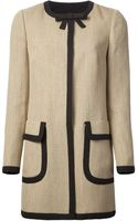 RED Valentino Button Down Coat - Lyst