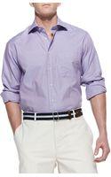Peter Millar Microcheck Sport Shirt - Lyst