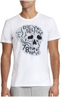 Diesel Skull Graphic Tee - Lyst