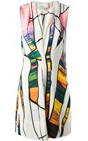 3.1 Phillip Lim Cracked Print Dress - Lyst