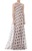 Carolina Herrera Diamond Swirl Print Gown - Lyst
