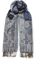 Blue Blue Japan Jacquard-wool Lightweight Scarf - Lyst