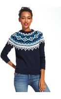 Tommy Hilfiger Fair-isle Crew-neck Sweater - Lyst