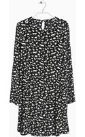 Mango Printed Animal Dress - Lyst