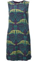 M Missoni Printed Shift Dress - Lyst