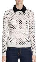 Alice + Olivia Laura Convertible Polka Dot Sweater - Lyst