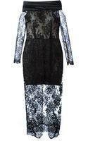 Alessandra Rich Sheer Lace Dress - Lyst