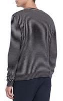 Vince Striped Crewneck Sweater - Lyst