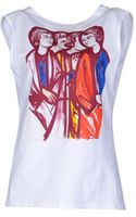 Balenciaga Sleeveless Printed T-Shirt - Lyst