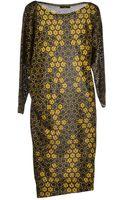 Alexander McQueen Kneelength Dress - Lyst