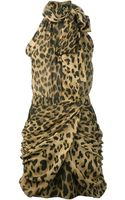 Balmain Leopard Dress - Lyst