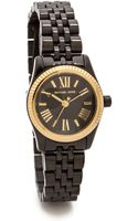 Michael Kors Midnight Safari Petite Lexington Watch Blackgold - Lyst