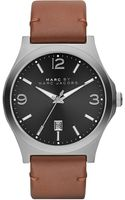 Marc By Marc Jacobs Danny Stainless Steel Leather Watch - Lyst