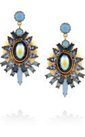 Elizabeth Cole Goldplated Crystal and Cabochon Earrings - Lyst