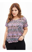 Forever 21 Tribal Print Knit Top - Lyst