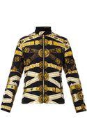 Versus  Chain-print Padded Jacket - Lyst