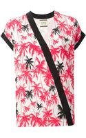 Fausto Puglisi Palm Tree Print Top - Lyst