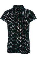 River Island Boys Green Triangle Print Shirt - Lyst