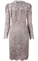 Valentino Scallop Lace Sheath Dress - Lyst