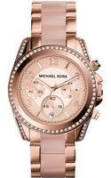 Michael Kors Ladies Blair Rose Goldtone Blush Glitz Watch - Lyst